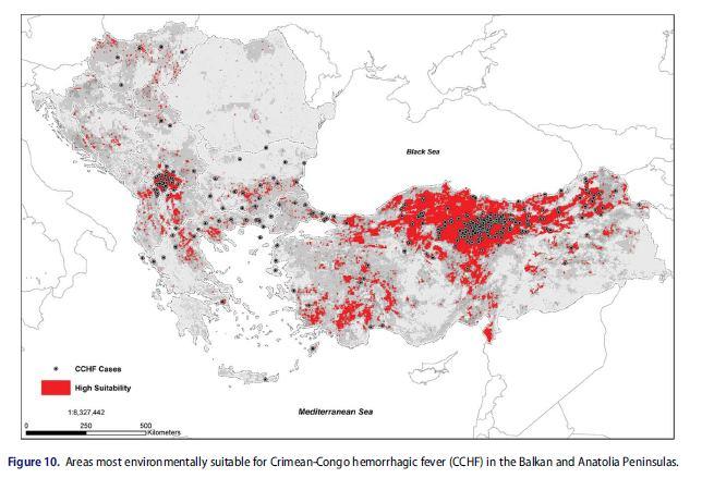 Kırım-Kongo Kanamalı Ateşi (KKKA)'nin coğrafi ve çevresel risk değerlendirilmesi