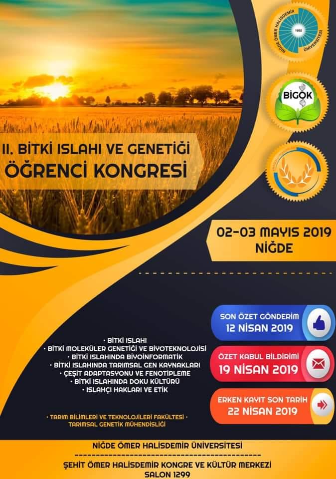2. Bitki Islahı ve Genetiği Öğrenci Kongresi