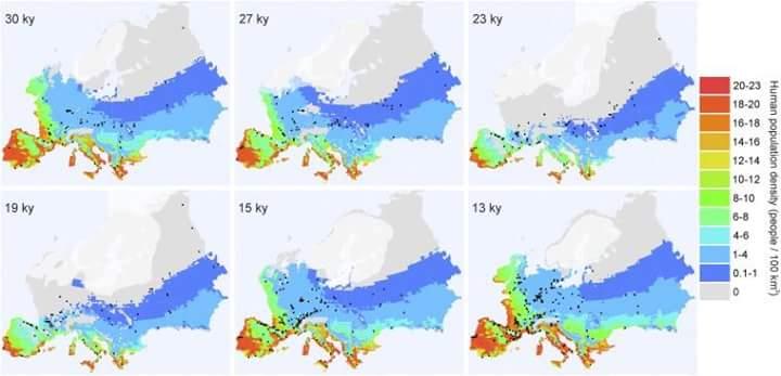 Avrupa'da Son Buzul Maksimum'da İnsan Populasyon Dinamikleri