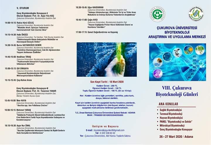 VIII. Çukurova Biyoteknoloji Günleri