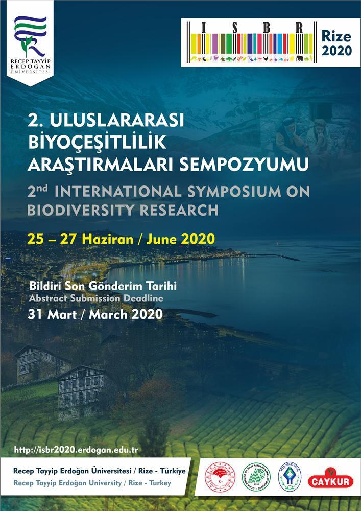 2. Uluslararası Biyoçeşitlilik Araştırmaları Sempozyumu,