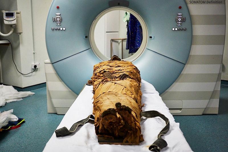 Yaklaşık 3000 yıl önce Thebes'te yaşayan bir rahip olan Nesyamun'un mumyası. C: Leeds Museums and Galleries