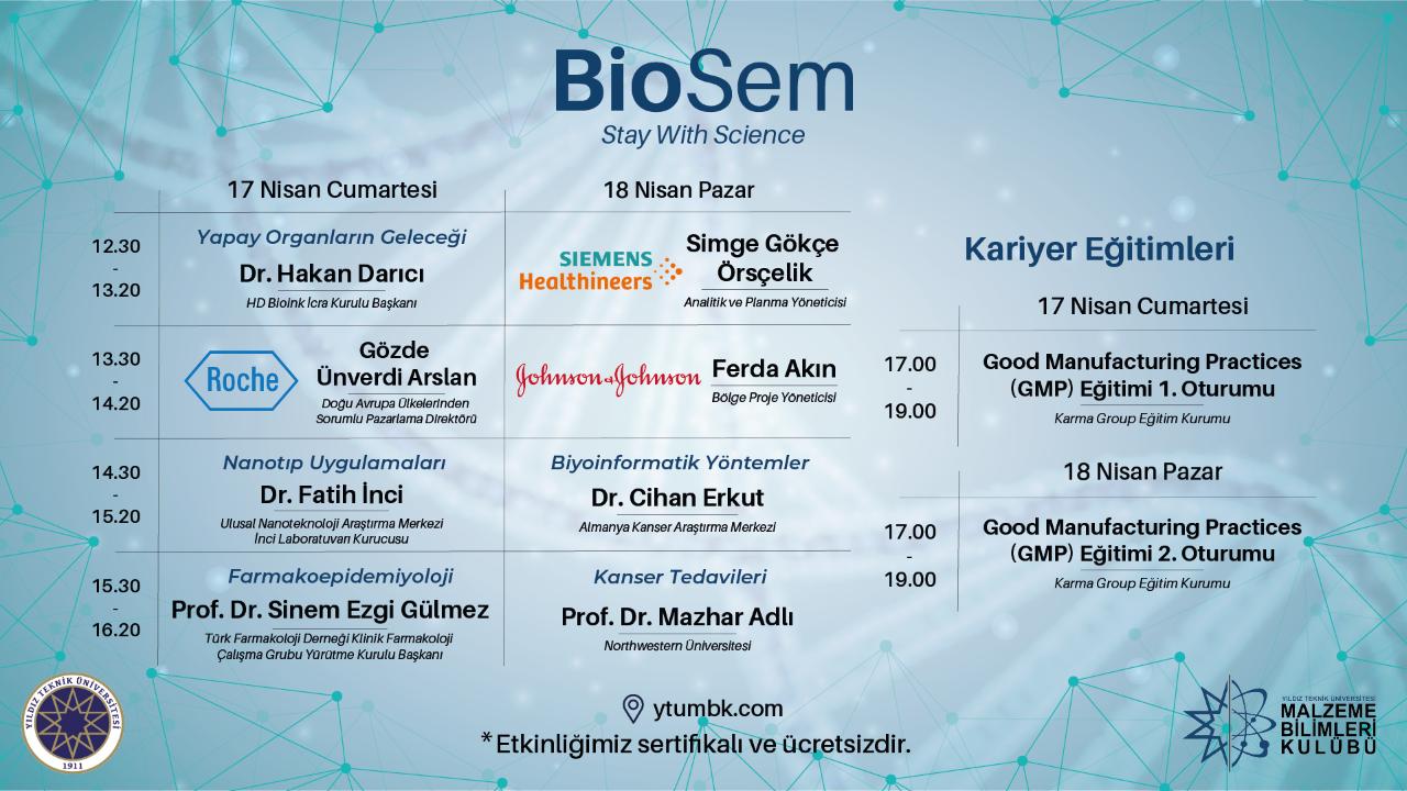 BioSem'21 Etkinliği - 17-18 Nisan 2021